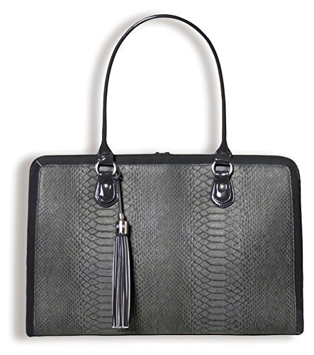 BFB Aktentasche, Computertasche - Handgefertigte 17 Zoll Laptoptasche Damen - Anthrazitgrau - by My Best Friend Is A Bag