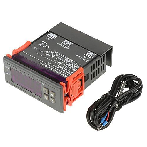 MH1210A Digitaler LED-Temperaturregler mit Sensor zur Einstellung der hohen und niedrigen Temperatur (Temperaturbereich: -40 °C bis 120 °C) -