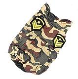Zunea Pet Apparel Petit Chien Chat Vêtements Camouflage militaire uniforme Veste Trench Coat résistant à l'eau Vert armée...