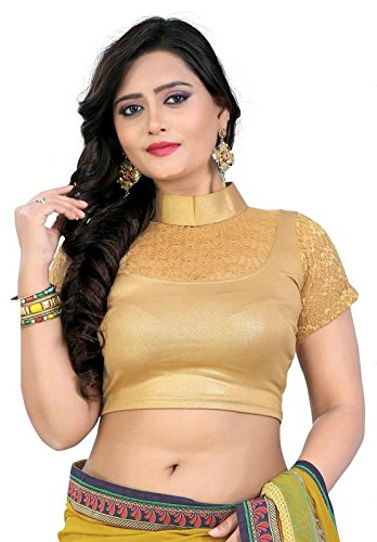 PRE SMART GOLDEN READY MADE STRETCHABLE STITCHED BLOUSES