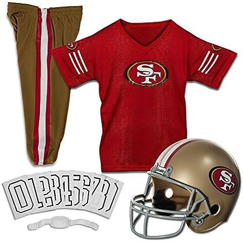 Franklin Sports FRA-15700F12-Y1 San Francisco 49ers Juventud NFL Deluxe Casco y Uniforme Set- Peque-o