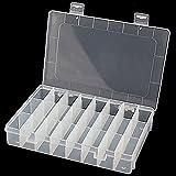 Homiki - Caja de almacenamiento plástico para joyas, 24compartimentos, utensilio ajustable,...