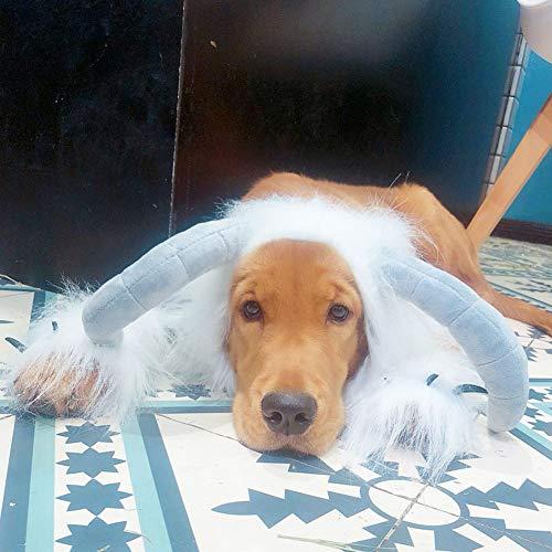 Qiyun Hund oder Katze Pet Costume, Pet Cosplay Kostüm, für Hunde und Katzen, Halloween-Party, Weihnachten, Kleidung für Weihnachten M Bianco