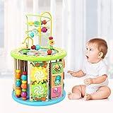 Rclhh 8 in 1 Holzspielzeug Holz Aktivität Cube Bead Labyrinth Mehrzweck pädagogisches Spielzeug für Kinder Baby Kleinkinder, ideal für Alter 2-7 Einjahres Mädchen Jungen