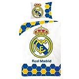 FC Real Madrid Bettwäsche Decke und Kopfkissen Set 140 x 200cm 70 x 90cm