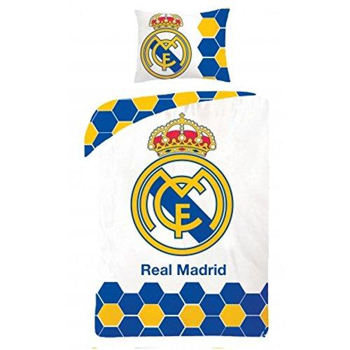 Sábana y funda para almohada del FC Real Madrid. 140 x 200cm y 70 x 90cm