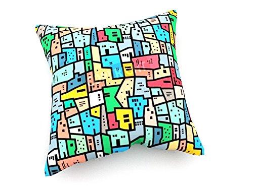 Favela brasiliana - 40x40 cm - weewado - Cuscini del divano - arte, immagine, pittura, (Pelle Appartamento Divano)