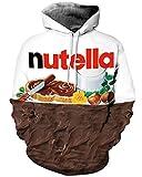 Felpa con Cappuccio Unisex Casual a Maniche Lunghe Uomo Donna Coppia Sweatshirt Cioccolato S/M