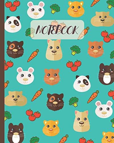 Notebook: Cute Gerbils Face Cartoon (Volume 4) - Lined Notebook, Diary, Track, Log & Journal - Gift for Boys Girls Teens Men Women (8