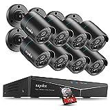 Sannce 8CH Full HD 960H DVR Überwachungssystem CCTV System Videoüberwachung mit 4 x 900TVL Überwachungskameras Nachtsicht bis zu 30 Meter für innen und außen 1TB Überwachung Festplatte