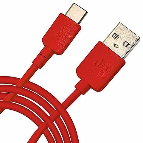 Spyrox - Xiaomi Mi 4c 1 Mètre Type-C USB Data / Charging Cable - Red