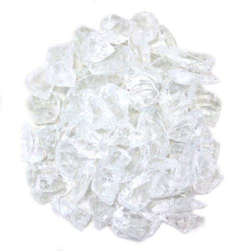 Koyal groß-Mittelpunkt Vase Filler Strand Decor Meer Glas, 1.5-pound, transparent
