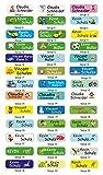 INDIGOS UG Namensaufkleber/Sticker/Namen - 5x1,5 cm - 60 Stück für Kinder, Schule und Kindergarten - individueller Druck - Bitte Geschenknachricht hinterlassen