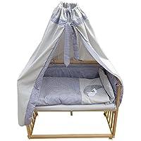 Beistellbett Kinderbett Gitter Himmelbett Babybett Bett Stillbett inkl. 9 tlg. Zubehör