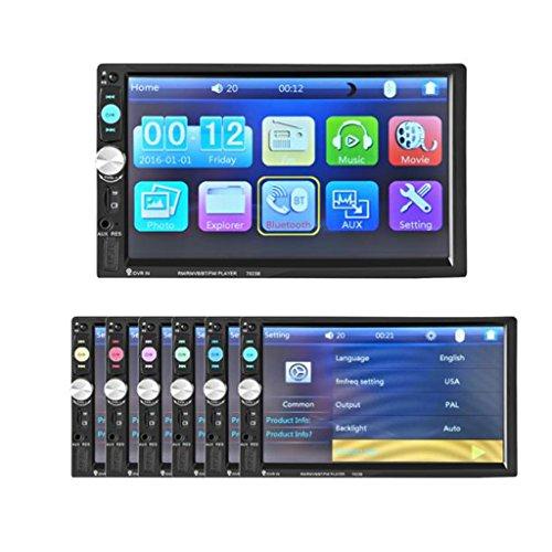 Bluetooth Car Audio Stereo - Kingwon Bluetooth Auto-Stereo-Audio-In-Dash Aux Input Receiver SD / USB-MP5-Unterstützungs-GPS, Bluetooth-Autoradio USB SD Cam-In (Autoradio mit GPS)