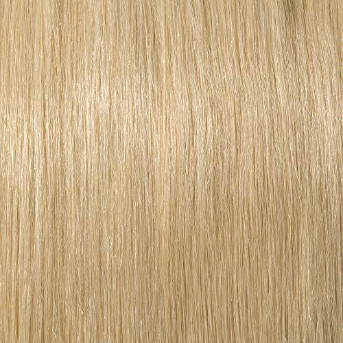 Extension capelli veri chignon elastico 100% human hair bun lisci coda di cavallo updo effetto naturale voluminoso 23g #613 biondo chiaro