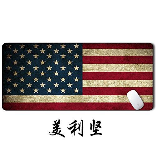 @A Office Mauspads Gaming Mauspads Chinesische Fahne Weltkarte Mouse Pad Oversize Verdickung Sperren Büro Haushalt Tabelle Matte Tastatur Pad. Amerikanische Flagge 900 X 400Mm X 3Mm