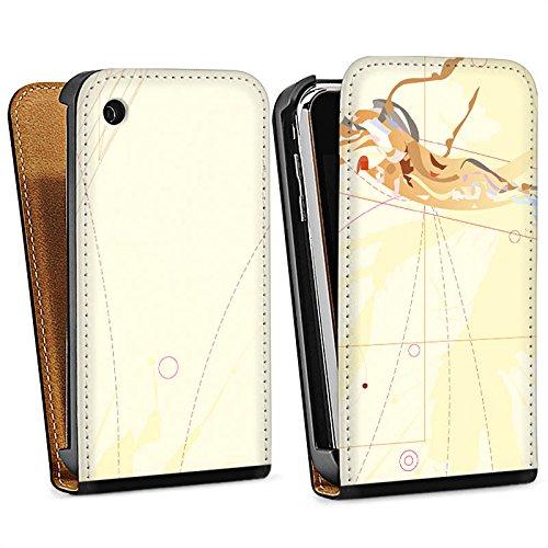 Apple iPhone 4 Housse Étui Silicone Coque Protection Motif Motif couleurs Sac Downflip noir