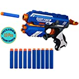 Wishkey Blaze Storm Manual Soft Bullet Gun Toy with 10 Safe Foam Bullets for Kids (Multicolour)