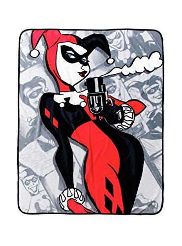 DC Comics Harley Quinn Smoking Gun Überwurf Decke