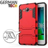 German Tech SHI-SG172-RJ - Funda híbrida para Samsung Galaxy Grand Prime, color rojo