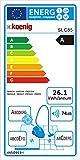 H.Koenig SLC85 Silence beutelloser Bodenstaubsauger / Inklusive Tierhaar-Entfernungs-Set / EEK A / Zyklon-Technologie / 2,5 L Staubfangbehälter / Teleskoprohr aus Aluminium / 8m Aktionsradius / blau/schwarz