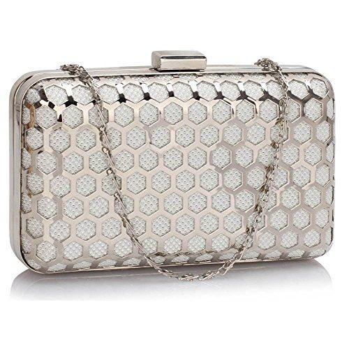 Trendstar Frauen Harte Fall Box Clutch Abendhandtaschendame Abschlussball-Partei Designer Handtasche (Braut-abschlussball-abend-handtaschen)