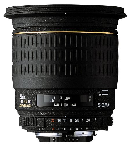 Sigma 20mm f/1.8 EX DG Lens for Sony Camera