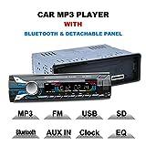 12V 1DIN Bluetooth radio de coche Audio estéreo reproductor de mp3Panel frontal desmontable apoyo sd/fm/AUX/USB