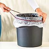 Tri Müllbeutel-Band, 3 Stück, Gummiband fixiert Müllbeutel zuverlässig am Eimerrand, Rot, Gelb, Blau, Vielseitig Einsetzbar