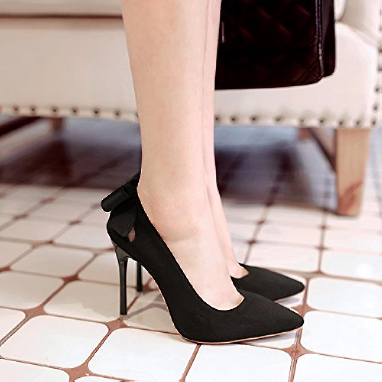 homme   femme à de chaussures à femme talons hauts fille bien avec la  pointe d un seul petit et polyvalent chau ssures souliers en satin noir  au...utiliser ... 799c63f895c7