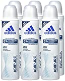adidas adipure Deo Body Spray für Damen,  6er Pack (6x150 ml)