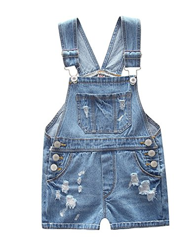 Ding-dong Toddler Kid Boy Girl Denim Shortall Dungarees