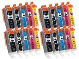 20 Druckerpatronen mit Chip und Füllstandsanzeige kompatibel zu Canon PGI-550 / CLI-551 (4x Schwarz breit, 4x Schwarz schmal, 4x Cyan, 4x Magenta, 4x Gelb) passend für Canon Pixma IP-7200 IP-7250 IP-8700 IP-8750 IX-6800 IX-6850 MG-5400 MG-5450 MG-5550 MG-5600 MG-5650 MG-5655 MG-6300 MG-6350 MG-6400 MG-6450 MG-6600 MG-6650 MG-7100 MG-7150 MG-7500 MG-7550 MX-720 MX-725 MX-920 MX-925