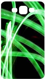 Green Neon Blur White Flip Case for Samsung Galaxy S3 / SIII / I9300