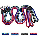 Mycicy Hundeleine, geflochtenes Seil, 10 mm x 120 cm, stilvolles Nylon, strapazierfähige Hundeleine