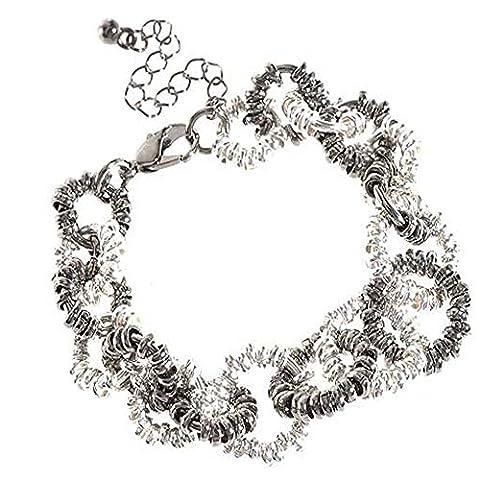Bracelet Boucle Argent et Hématite