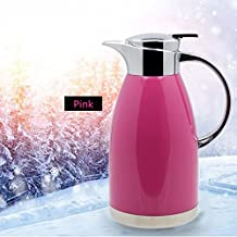 Haosen 1,8 litros de acero inoxidable termos de café Hervidor de agua Termos de estilo europeo - Caliente y frío doble uso (Rosa)
