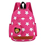 Ankoee Sac A Dos Enfant Fille Maternelle Bambin Cher Cartable Maternelle Garderie 24 x 11 x 32cm(1-7ans) (Rose Rouge)