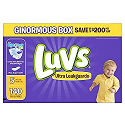 Luvs Luvs Ultra Leakguards Diapers Size 5 140 Count by Luvs