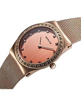 Bering Time Damen-Armbanduhr XS Analog Quarz Edelstahl 12430-366