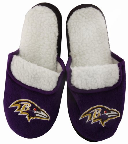 Baltimore Ravens Purple NFL Women's Slippers Small