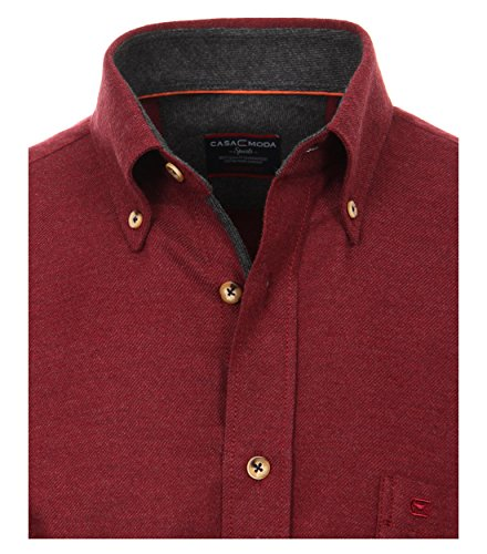 Michaelax-Fashion-Trade -  Camicia classiche  - Basic - Con bottoni  - Maniche lunghe  - Uomo Rot (400)