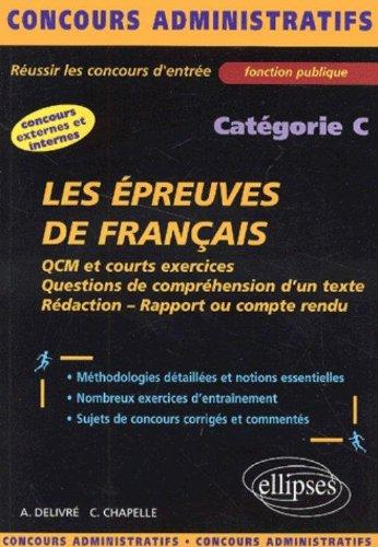 Les épreuves de français : Catégorie C