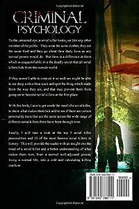 Criminal Psychology: The Criminal Mind of a Serial Killer: Volume 1 (Criminal Psychology, Serial Killers, Criminal Mind, Dark Psychology,)