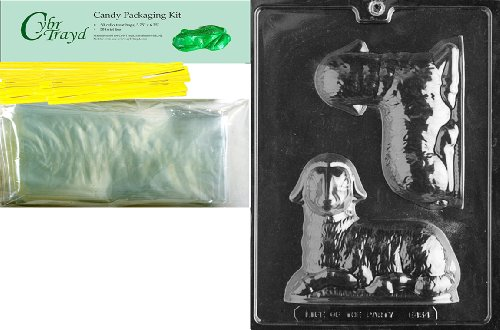 tern Schokolade Candy Form mit Verpackung Bundle, enthält 50Cello Taschen, 50gelb twistbänder und Schokolade gießen Anweisungen ()