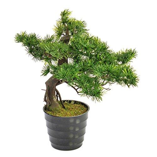 artplants Deko Bonsai Pinie Milan, grüne Nadeln, 45 cm - Kunstbaum/Bonsai künstlich