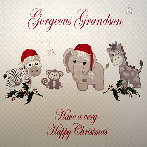 White Cotton Cards Gorgeous Grandson Have a Very Happy for sale  Delivered anywhere in UK