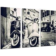 Cuadro Moderno Fotografico Motos Vespa Vintage, 97 x 62 cm ref. 26307
