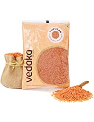 Amazon Brand - Vedaka Popular Red Masoor Dal Split, 1 kg